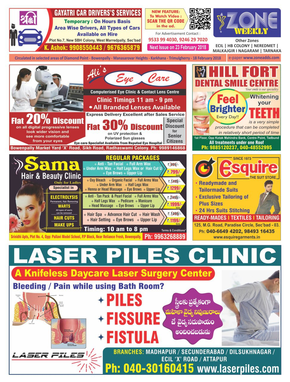 Best Laser Piles Clinic Hyderabad Ad